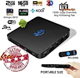 Mini Arabic IPTV Box International Receiver with Newest Android OS Lifetime Free Subscription for 1500+ Global Channels Include India Brazil 香港台湾 Asian Europe Arabic Support 4K WiFi Ethernet