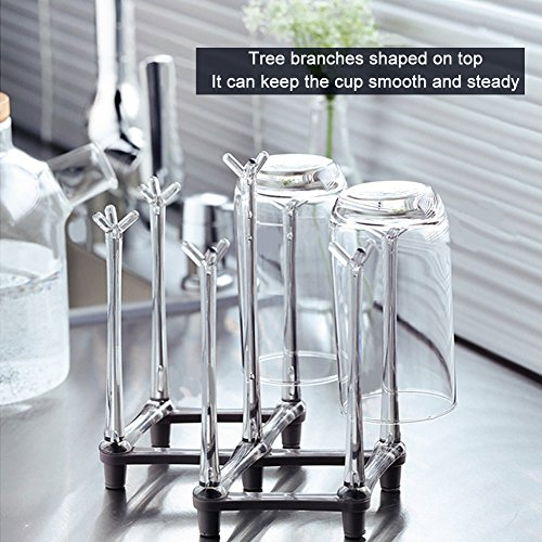 Multi-function Foldable Water-Cup Drying Rack Table Bottle Spoon Dryer Stand RD