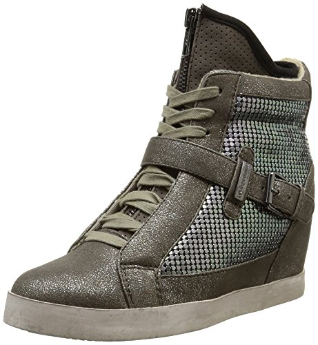 Top Gris Les Damen Grau Sneakers Calista High Tropéziennes wzIFPq