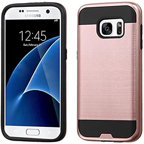 Galaxy S8 Case, JATEN Minimalistic Design Hybrid Dual Layer [Slim Fit] Smooth Hard Cover with TPU Skin Case + Stylus Pen (RoseGold/Black) Sales