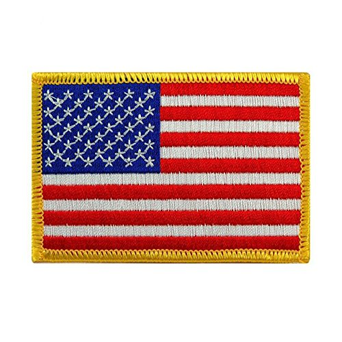 Toonol Embroidered USA Flag Patches Army Badge Patch Tactical Military Patches Fabric US Flag Cloth Armband United States Flag Badge ()