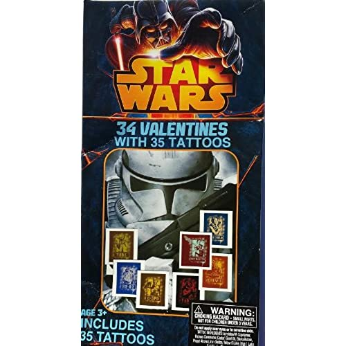 Star Wars Valentines Day Cards with 34 Valentines and 35 Tattoos Sales