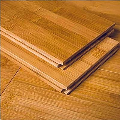 "AMERIQUE GLHCL9609615 One Carton Pre-Finished Solid Bamboo Floor Horizontal, Coverage: 23.81SQFT Plank: 3-3/4"" x 5/8"" x 37-3/4"", Horizontal Carbonized, 23 Square Feet"