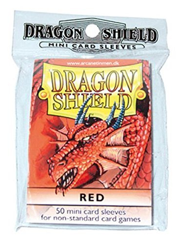(Dragon Shield Protective Card Sleeves (50 Count), Red)