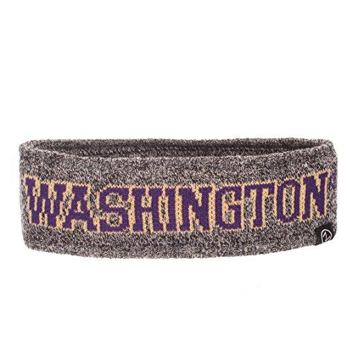 ZHATS NCAA Washington Huskies Halo Haze Knit Headband, Adjustable, Heathered Charcoal
