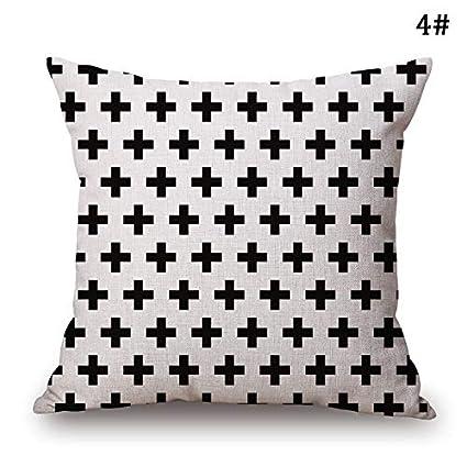 Amazon.com: Cojín interior – Funda de lino de algodón blanco ...