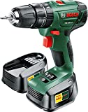 Bosch PSB 1800 LI-2 Cordless Lithium-Ion Hammer Drill Driver with Two 18 V Batteries by Bosch
