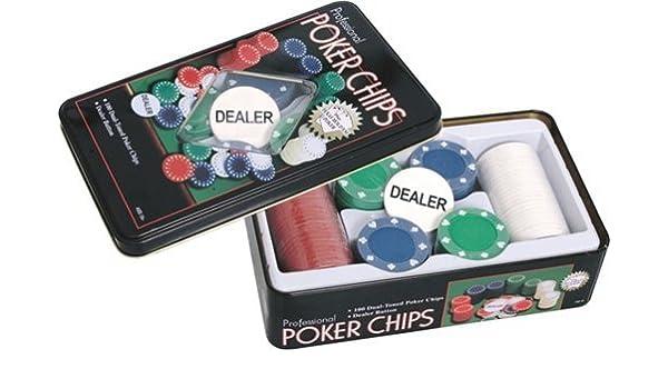Estuche 100 fichas Poker 4,5 gramos: Amazon.es: Hogar