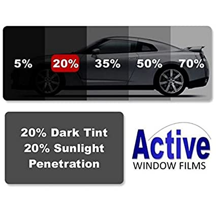 20/% 1-Ply ECO Non-Reflective Charcoal Window Film Car Tint  5/% 35/%