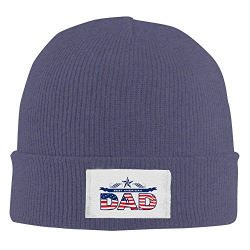 Unisex Fathers Day Best American Dad Knit Beanie