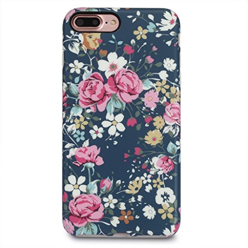 GOLINK iPhone 7 Plus Case for Girls/iPhone 8 Plus Floral Case, Floral Series Slim-Fit Anti-Scratch Shock Proof Anti-Finger Print Flexible TPU Gel Case for iPhone 7/8 Plus 5.5 - Vintage Roses