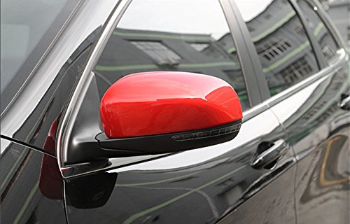 Red ABS Side Rearview Mirror Trim Cover 2pcs For Jeep Cherokee 2014-2016
