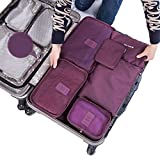 Funbase 6 Set Compression Packing Cubes Pouches Travel Luggage Laundry Organizer