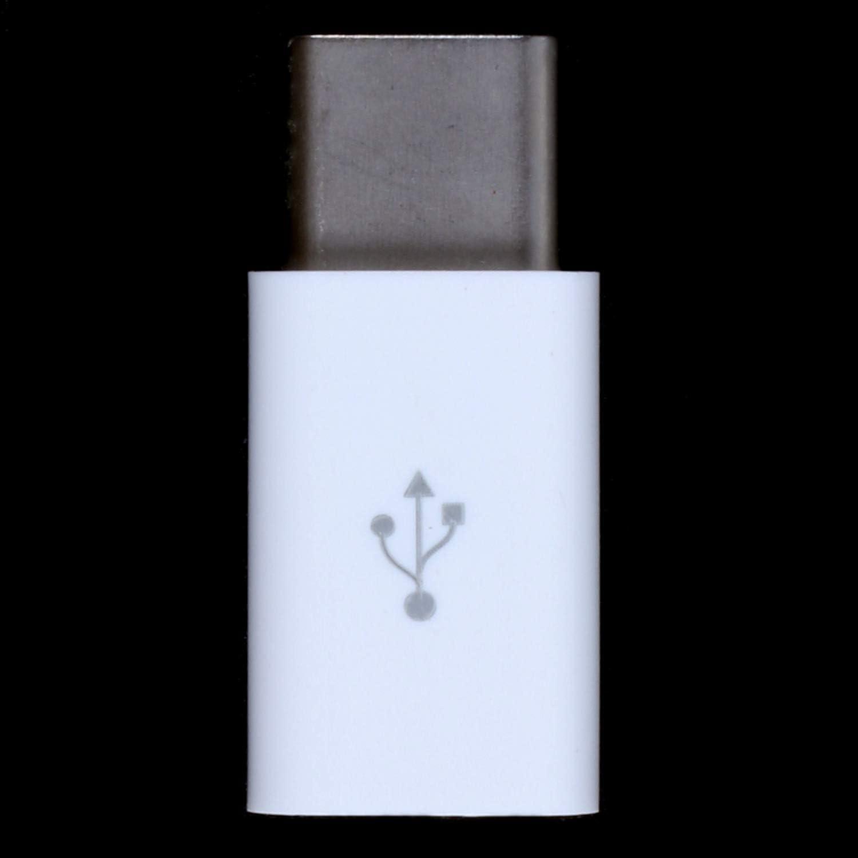 ACAMPTAR 3.1 USB Type C Male//Micro USB Female USB-C Adapter White