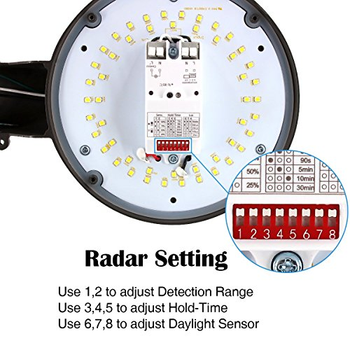 Zjojo Barn Light: LED Yard/Outdoor/Parking Lots/Porch Motion Sensor Light