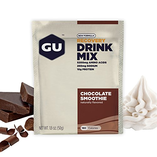 GU Recovery Protein Drink Mix , Chocolate Smoothie, 12 Packets
