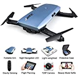 REDPAWZ WiFi FPV Camera Drone, H47 ELFIE Plus Foldable Selfie Drone with HD 720P Camera, G-Sensor Altitude Hold Headless Mode One-Key Return RTF Quadcopter for Kids, Beginners