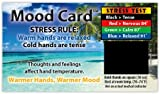 HEAVY CARDSTOCK STRESS CARD 14 point Hi-gloss card stock with UV coating FRONT and BACK, FULL COLOR FRONT AND BACK. Business card size, 3.5 inch x 2 inch inch Full color  Thick UV coated card, Very durable will last for years and years.  Place thumb ...