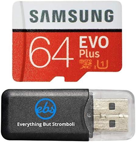 64GB Micro SDXC EVO Plus Bundle Works with Samsung Galaxy S10, S10+, S10e Phone (MB-MC64) Plus Everything But Stromboli (TM) Card Reader