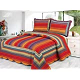 Pine Hill Reversible Cotton 3pcs Quilt Set