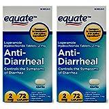 Equate Anti-Diarrheal Loperamide Hydrochloride Caplets, 2 mg, 72 Ct - - PACK OF 2