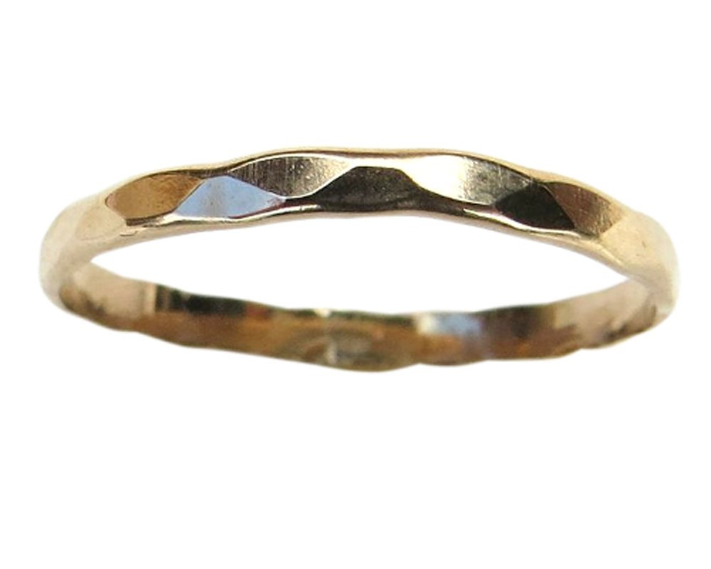 14k Gold Filled Faceted Midi Toe Ring (5) by California Toe Rings