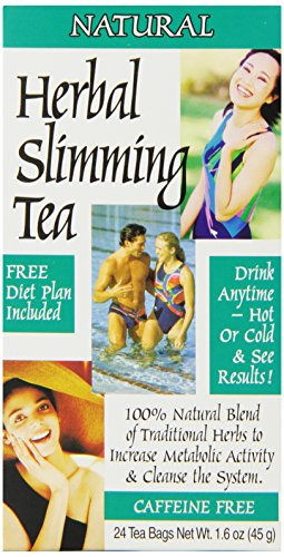 21st Century Tea (21st Century Slimming Tea, Natural, 24 Count (Pack of 3))