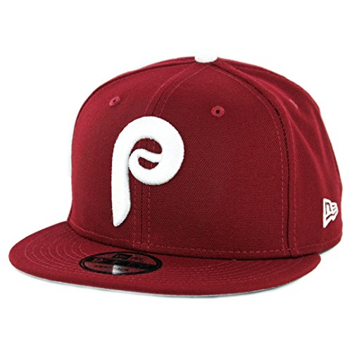 New Era 950 Philadelphia Phillies Basic Snapback Hat (Cardinal) Men's MLB Cap