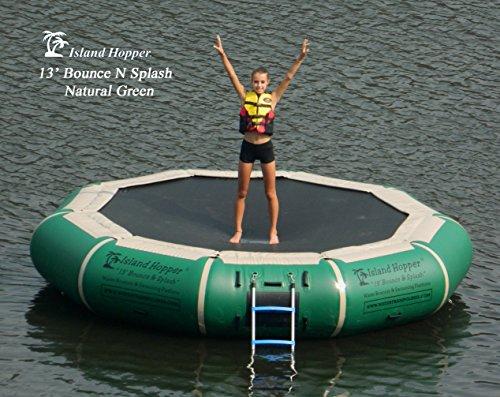 Island Hopper 13' Bounce N Splash Water Bouncer Natural Green