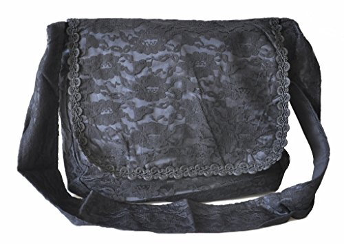 Black Vintage Girls Vamp Punk Costume Renaissance Shoulder Black Gothic Bag College Victorian wqE0IFC