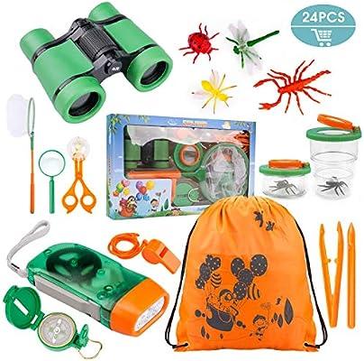 Tintec Outdoor Explorer Set de Juguetes para niños 24 Piezas, niños de 3-10 años de Aventura al Aire Libre Juguetes Educativos Regalo de cumpleaños ...