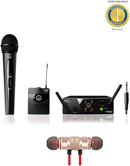 AKG WMS40 Mini Dual Vocal Handheld//Instrument Wireless Microphone System