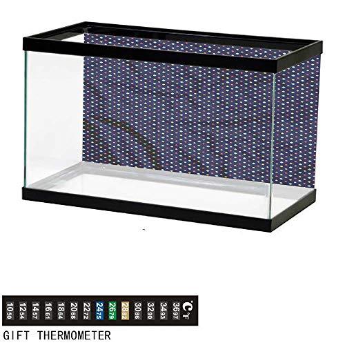 bybyhome Fish Tank Backdrop Diamond,Colorful Gemstones,Aquarium Background,60
