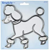 Wrights 1967497003JA Iron-On Applique Large Poodle Embroidery, White/Gray