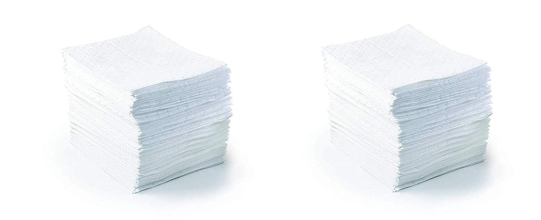 SPC BPO500 BASIC 17'' Length, 15'' Width, White Color Oil Only Light Weight Pad (2 X Pack of 100)