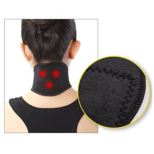 Magnetic Therapy Neck - Active Authority Self Heating, Magnetic Tourmaline Neck Brace for the Relief of Neck Pain and Physical Therapy - Unisex (Black)