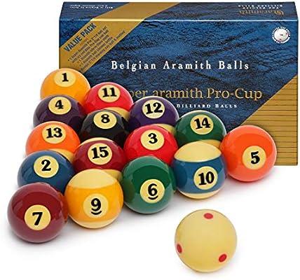 Aramith Super Pro-Cup - Juego de Bolas de Billar de 2 1/4 Pulgadas ...