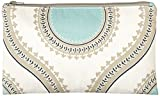 Caught Ya Lookin' Medallion Zipper Pouch, Blue/White/Yellow/Gray, One Size
