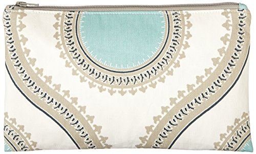 Caught Ya Lookin' Medallion Zipper Pouch, Blue/White/Yellow/Gray, One Size by Caught Ya Lookin'
