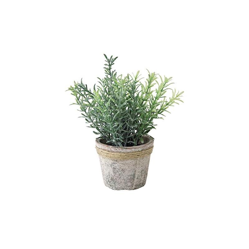 silk flower arrangements time concept decor imitation rosemary plant - artificial indoor/outdoor houseplant