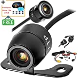 TOPTIERPRO Upgraded Mini Backup Camera 170° Viewing Angle Multi-Function Car Reversing Rear View/Side View/Front View & Security Pinhole Spy Camera (TTP-C12B) - Free Car Membrane 2 Pack