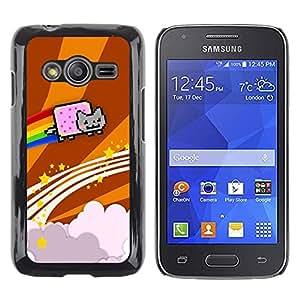 Stuss Case / Funda Carcasa protectora - Cat Flying Rainbow Computer Game Music Art - Samsung Galaxy Ace 4 G313 SM-G313F