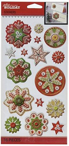 Jolee's Boutique Stitched Snowflake Stickers (Jolees Snowflakes Boutique)