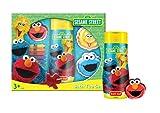 Sesame Street Set Unisex, Bade Duschgel 250 ml, 2x Schaumbad je 60 ml, 4x Bad Buntstifte, Elmo Waschtuch 30 x 30 cm, 1er Pack (1 x 370 ml)