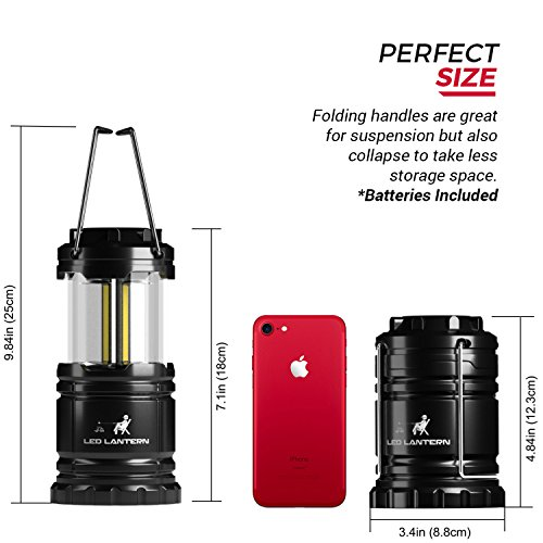 LED Camping Lantern Flashlights Camping Equipment Great for Emergency, Tent Light, Backpacking, 4 Pack Gift Set