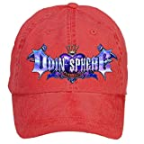 Nusajj Odin Sphere Leifdrasir Logo Unstructured 100% Cotton Baseball Caps Design for Female Red One Size