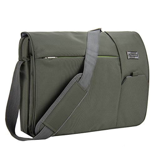 VanGoddy Olive Green Executive Anti-Theft Laptop Messenger Bag for Dell XPS / Latitude / Inspiron / ChromeBook / Precision Mobile Workstation / 11
