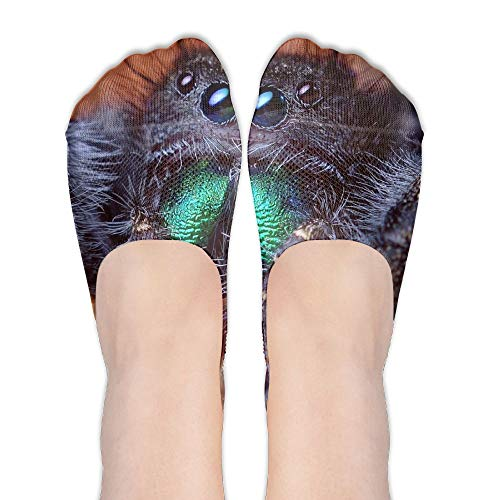 PangYuen Cute Tarantula Spider Animal Women's Polyester Cotton Socks Ladies Boat Socks Deodorant Boat Socks Thin Section Casual Socks Low Breast Socks -