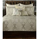 Poetic Wanderlust Tracy Porter Queen Size Quilt from the Gigi Bedding Collection in Neutral