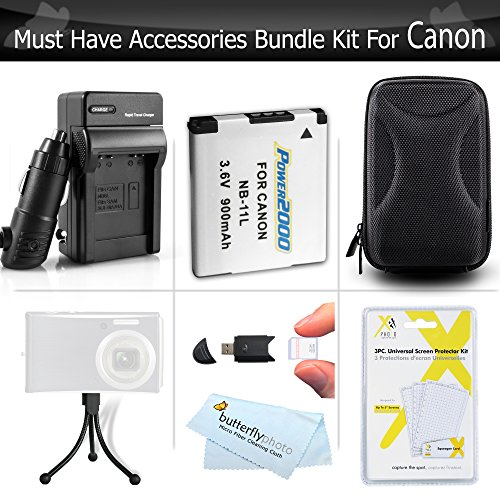 Must-Have-Accessory-Kit-For-Canon-Powershot-Elph-190-IS-ELPH-180-ELPH-150-IS-ELPH-350-HS-A2500-ELPH-170-IS-ELPH-160-ELPH-360-HS-Camera-Includes-Replacement-NB-11L-Battery-Charger-Case